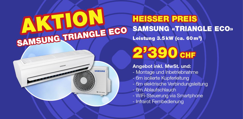 Aktion Samsung Klimaanlage, Klimaservice Widmer Wettingen